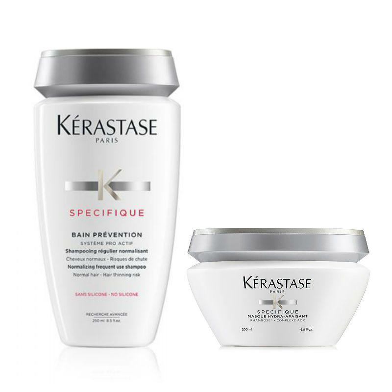 Kérastase Specifique Shampoo + Haarmasker voor een Gevoelige Hoofdhuid & tegen Haaruitval