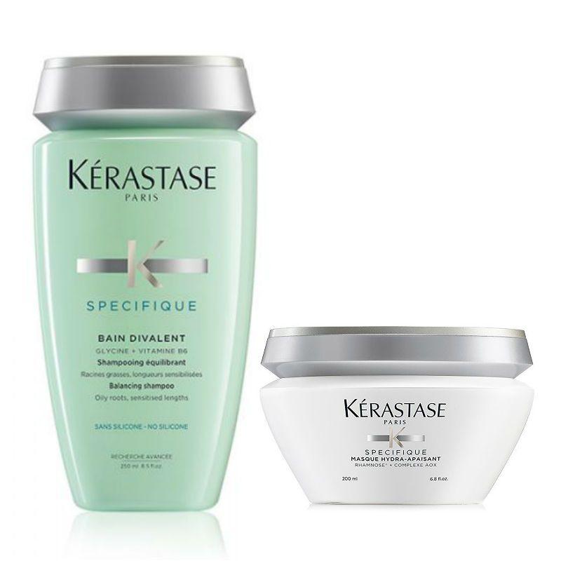 Kérastase Specifique Shampoo + Haarmasker voor een Vette & Gevoelige Hoofdhuid