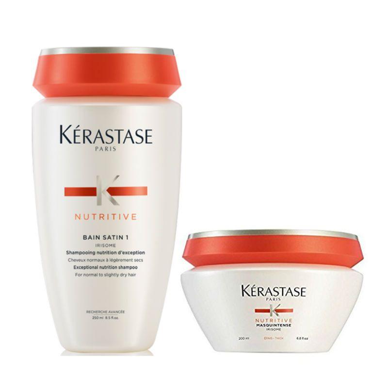 Kérastase Nutritive Shampoo + Haarmasker voor Droog Haar