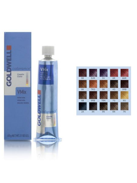 Goldwell Colorance Cover Plus Tube + Hair chart