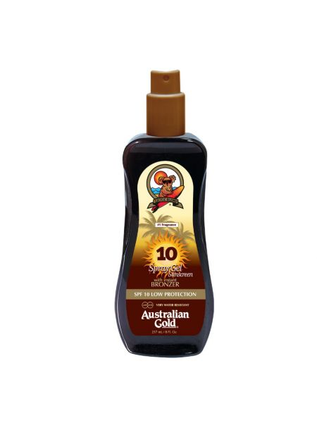 Australian Gold SPF10 Spray Gel met Bronzer