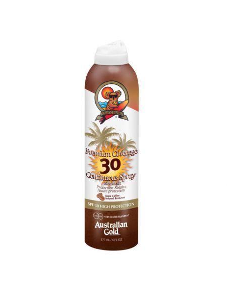 Australian Gold SPF30 Premium Coverage Continuous Spray met Bronzer