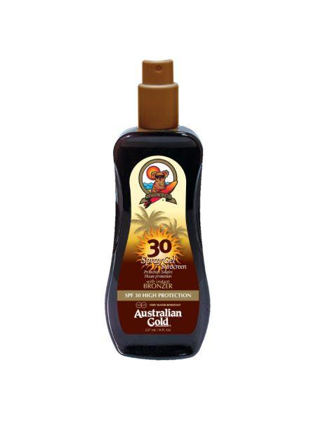 Australian Gold SPF30 Spray Gel met Bronzer