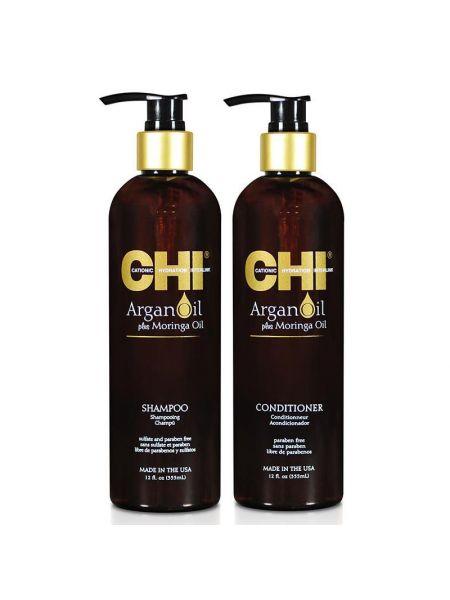 CHI Argan Oil Duo Shampoo+ Conditioner 355ml