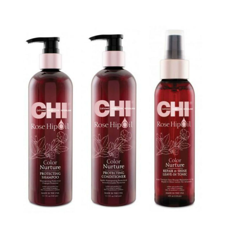 CHI Rose Hip Oil Repair & Shine Kit