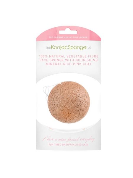 Konjac Sponge Company Facial Puff Sponge French Pink Clay