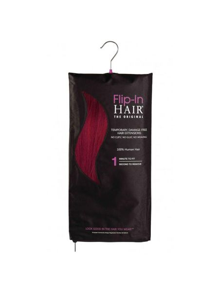 Flip-In Hair Extensions The Original Cranberry