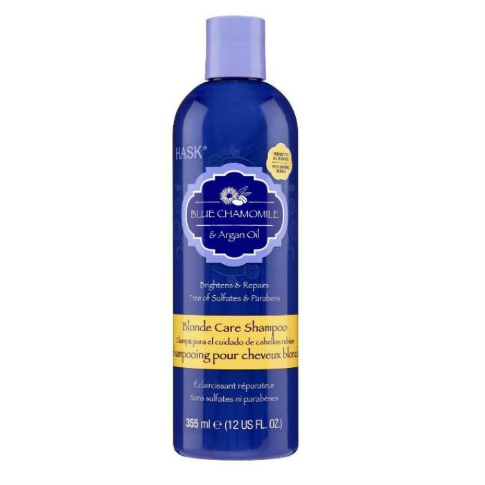 Hask Blue Chamomile with Argan Blonde Shampoo
