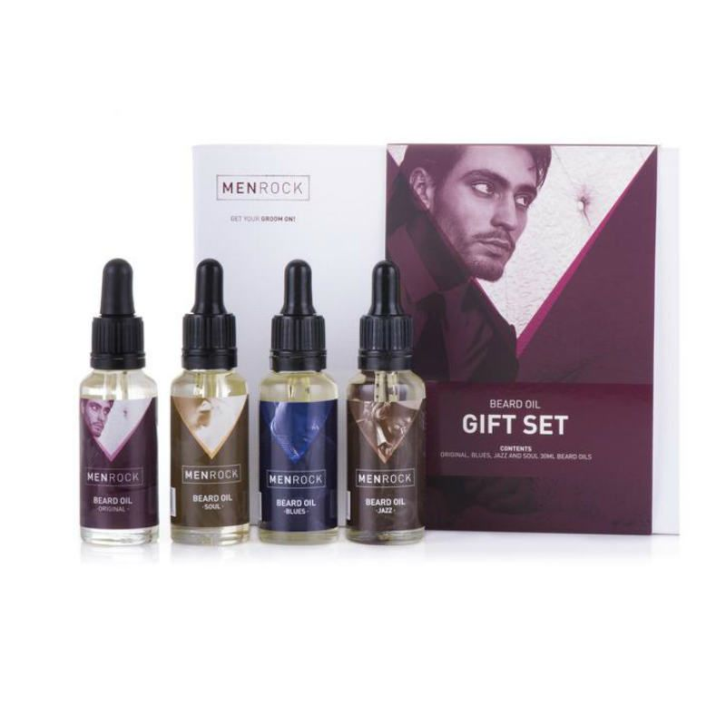 Men Rock Beard Oil Gift Set