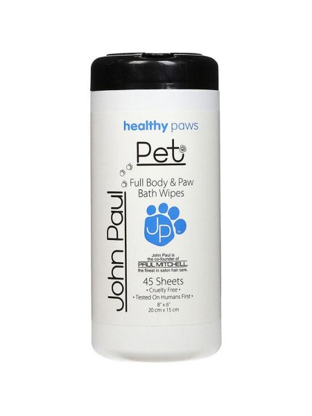 John Paul Pet Full Body & Paw Bath Wipes