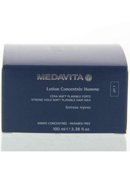 Medavita Lotion Concentrée Homme Strong Hold Matt Playable Hair Wax