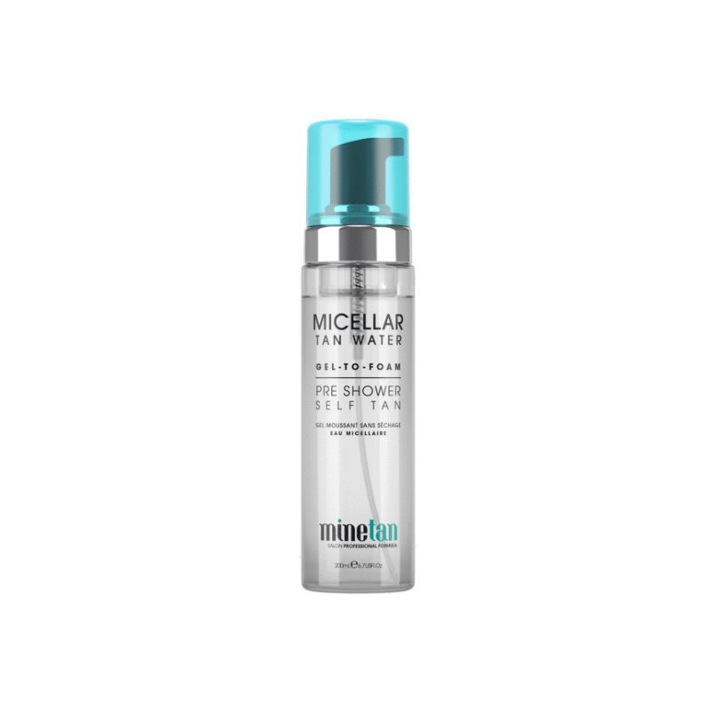 Mine Tan Micellar Water Gel To Foam