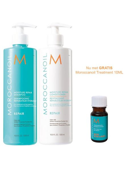 Moroccanoil Moisture Repair Duo 500ml + 10ml treatment