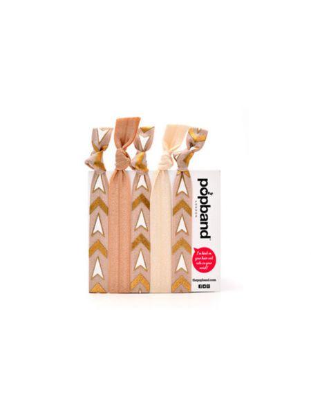 De Popband London Multipack Golden Sun Haarelastieken