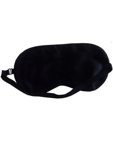 Silk Avenue Zijden Slaapmasker Zwart