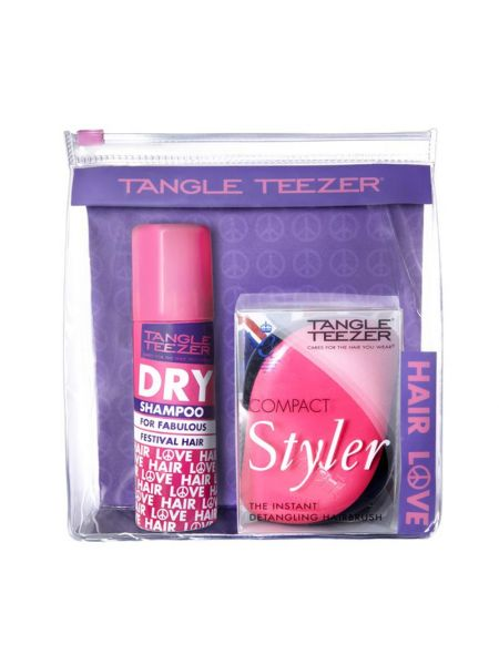 Tangle Teezer Limited Edition Pink Compact Styler met Dry Shampoo