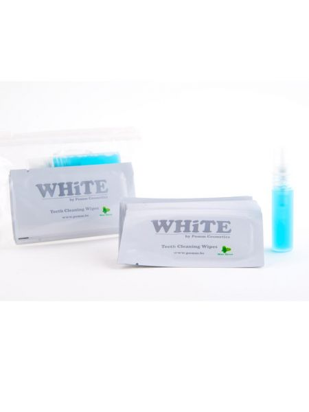 White Travel Fingerwipes + Spray + Zip
