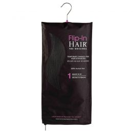 Flip-in Hair Extensions The Original Brown Black 1B