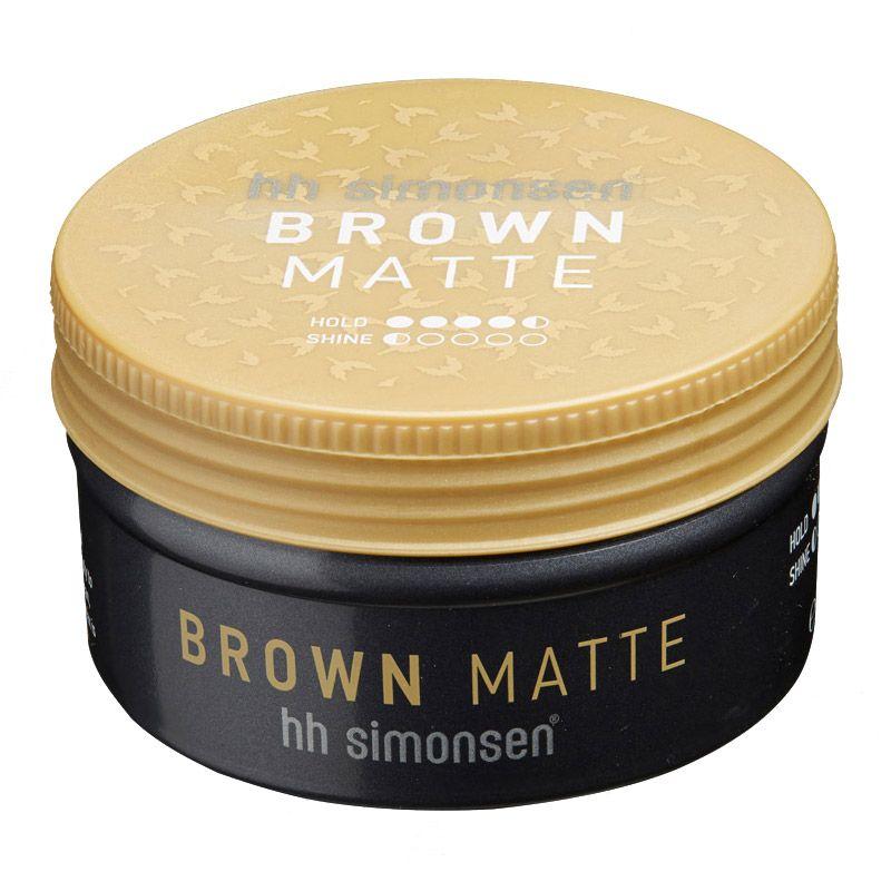 HH Simonsen Brown Matte Clay Wax 100ml