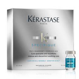 Kérastase Specifique Cure Apaisante 12 x 6 ml voor een Gevoelige Hoofdhuid